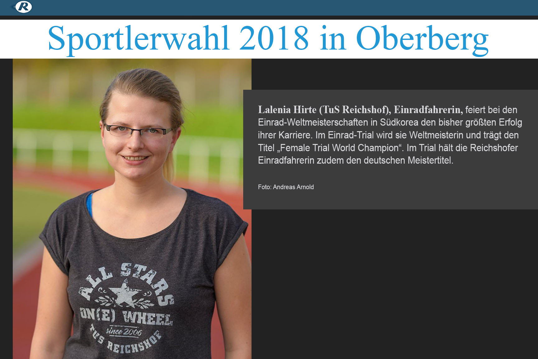 OVZ Sportlerwahl 2018 - und Lalenia ist mit dabei